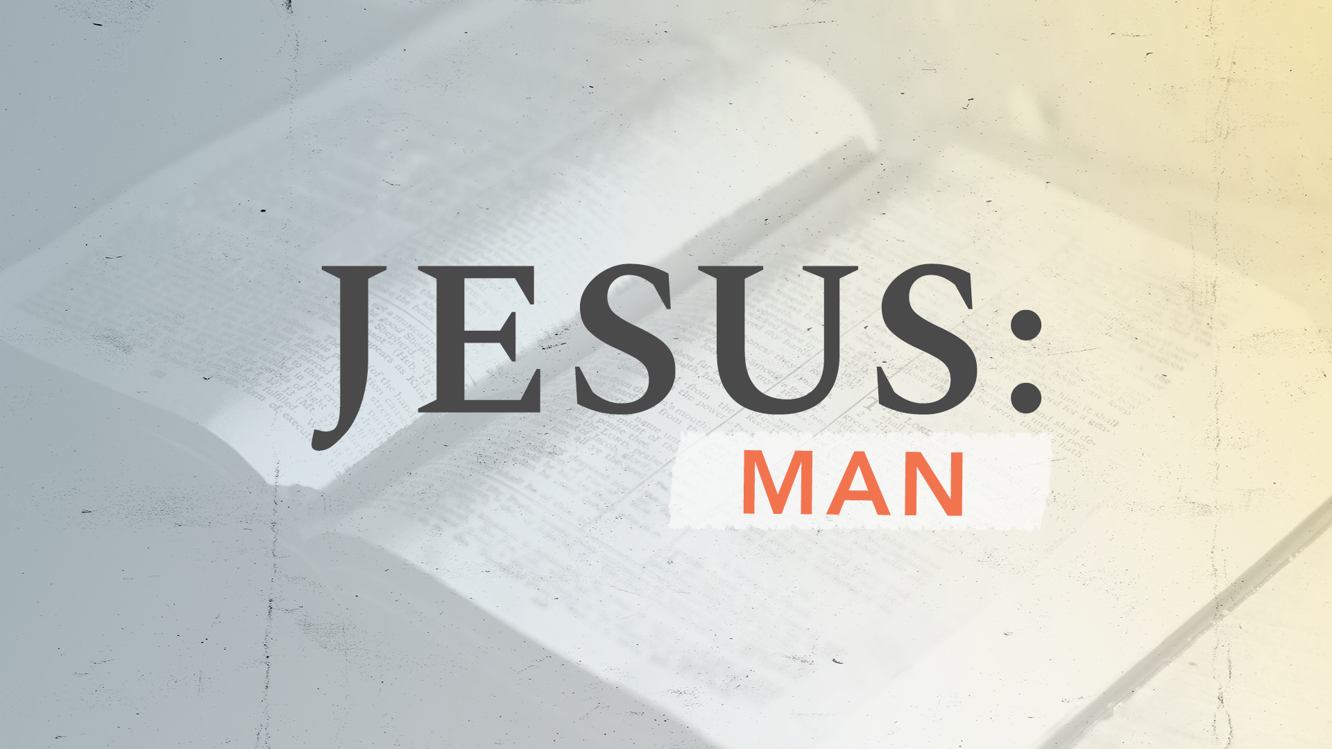 Video Thumbnail Jesus: Man | March 21, 2021